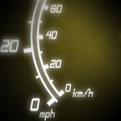 Part of futuristic speedometer — Stock Photo