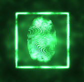 Illustration of the fingerprint — Stock Photo