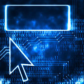 Computer arrow and screen — Stock Photo
