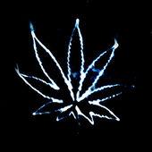 Marijuana in the smoke — Stock Photo