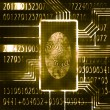 Fingerprint and code - Stock Photo