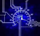 Hitech speedometer — Stock Photo