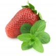 Fresh strawberry with mint — Stock Photo #5570602