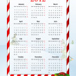 Vector illustration of European calendar 2012 - Stock Vector