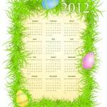Vector illustration of Easter calendar 2012 — Stock Vector
