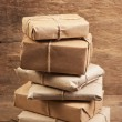 Royalty-Free Stock Photo: Stack parcel  in warehouse