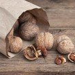 Walnuts in kraft paper bag — Stock Photo #5417349