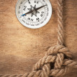 Compass and rope knot — Stock Photo #5418660
