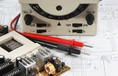 Old multimeter — Stock Photo