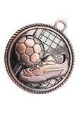 Bronzen medaille - voetbal — Stockfoto