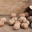Walnuts in kraft paper bag — Stock Photo #5420845