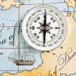 Compass on map — Stock Photo #5461290