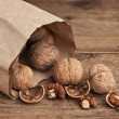 Stock Photo: Walnuts in kraft paper bag