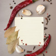 Blank sheet for cooking recipes — Stock Photo #5472036