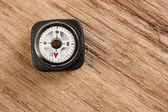 Compass on wooden background — Stock Photo