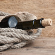 Old  bottle of wine — Stock Photo