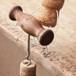 Wine corks and bottle — Stock Photo #5511333