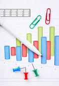 Pen and diagram — Stock Photo