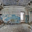 Stock Photo: Old abandoned house inside hdr panorama