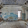 Old abandoned house inside hdr panorama - Stock Photo