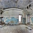 Old and abandoned house inside hdr panorama - Foto de Stock