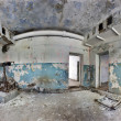 Stock Photo: Old and abandoned house inside hdr panorama