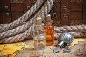 Vials of perfume oils — Stock Photo