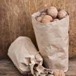 Walnuts in kraft paper bag — Stock Photo #5835589