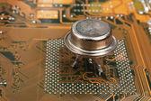старый кремниевый чип — Стоковое фото