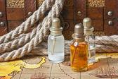Fläschchen mit Parfüm Öle — Stockfoto
