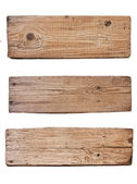 Old wooden board isolated on white background — 图库照片