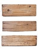 孤立在白色背景上的旧木板 — 图库照片