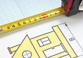Construction drawings — Stock Photo