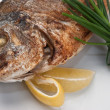 Dish of fried fish with onions — Stock Photo #6015222