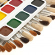 Watercolor paints and brushes — Stock Photo #6019757
