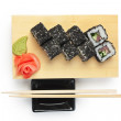 Traditional Asian food sushi — Stock Photo