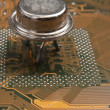 Old silicon chip — Stock Photo