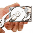 Open hard drive in hand - Photo