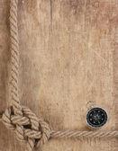 Brújula y cuerda — Foto de Stock