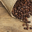 Coffee beans in a bag — Stock Photo #6063958