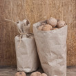 Walnuts in kraft paper bag — Stock Photo #6205911