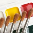 Watercolor paints and brushes — Stock Photo #6206145