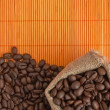 Stock Photo: Coffee beans in bag