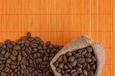 コーヒー豆袋 — ストック写真