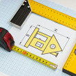 Stock Photo: Construction drawings