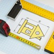 Construction drawings - Stock Photo
