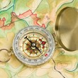 Compass on a map — Stock Photo #6461831