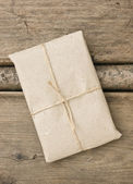 Parcel wrapped — Stock Photo
