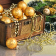 Christmas decoration in chest — Stock Photo #6585183