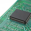 Microchips on printed circuit board — Stock Photo #6620703